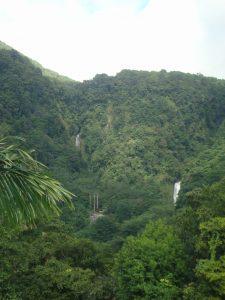 Dominica twin falls